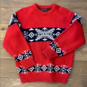Vintage Oversized Christmas Sweater 100% Wool